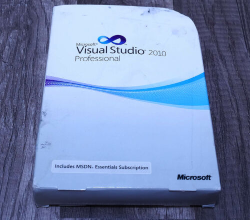 Microsoft Visual Studio 2010 Professional Pro full version pre-owned C5E-00521