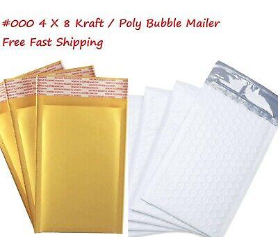 000 4x8 Polykraft Bubble Mailer Self Padded Envelope Bag 5102550100500