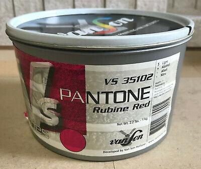 Van Son Pantone Rubine Red Vs 35102 Offset Sheet-fed Ink 2.2-lb 1-kg Can Sealed