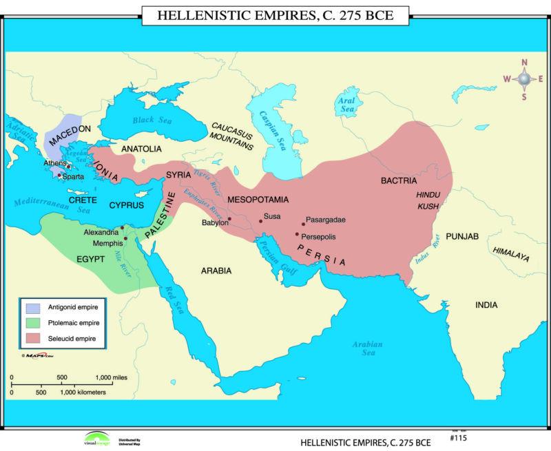 115 Hellenistic Empires, 275 BC