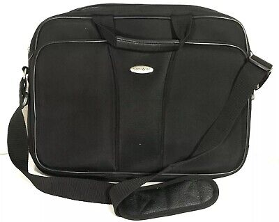 Samsonite Black 17 inch Laptop bag Travel Laptop Carrier Pockets Shoulder Strap