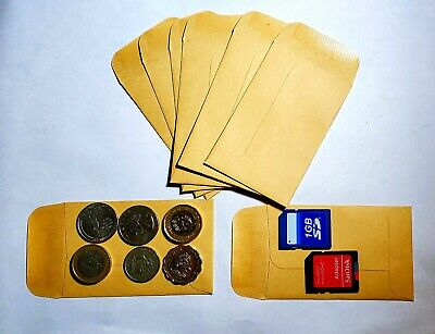 Kraft Brown Envelopes 2.25x3.5. Size 1. Quantity 10. Ideal For Seeds Coins