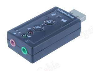 USB External 7.1 Channel 3D Virtual Audio Sound Card Adapter PC(A-229)