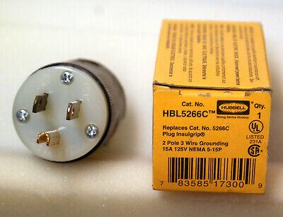 Hubbell Hbl 5266c Plug Male Jt 2 Pole 3 Wire 20a 125v Jt