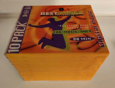 10 Stk BestMedia CD-R Rohlinge Digital Audio 80min for music only NEU