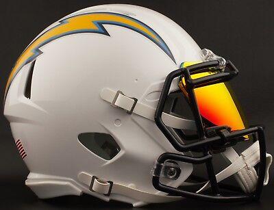 cdd739fe0 LOS ANGELES CHARGERS NFL Football Helmet with SHOC 2.0 Visor   Eye Shield