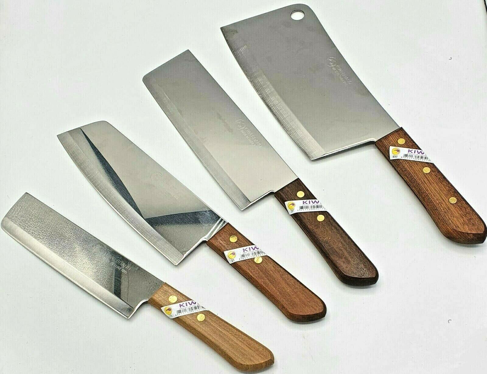 Kochmesser Kiwi verschiedene Typen Schlagmesser Nakiri Beil Küchenmesser Kochen
