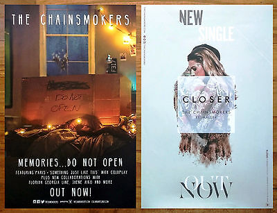 The Chainsmokers Memories Do Not Open   Closer Ltd Ed 2 Rare Posters Lot Collage