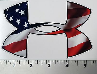 Under Armour American USA Flag Car/Window Decals Stickers- Set of Three