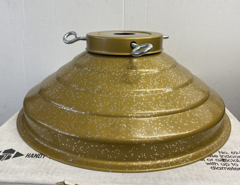 Vintage Star Bell Revolving Musical Tree Stand Gold Glitter WORKS Handy Things