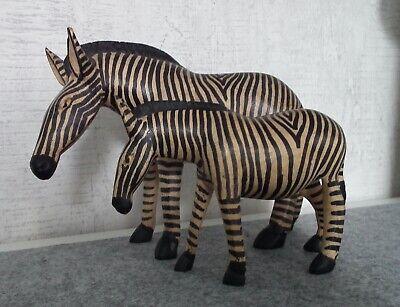 *** 2  Zebras *** Holzfiguren/ Tiere   Handarbeit aus Afrika   online kaufen