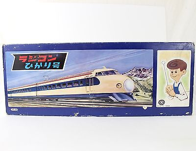 Vintage Trade Mark TM Radicon Hikari Monorail Type Train Japan Tin Battery Toy