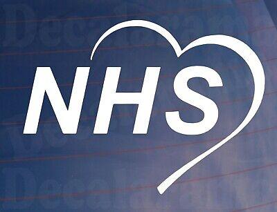 Car Sticker HEART NHS Novelty Van Truck Window Bumper Boot Door House Home Decal
