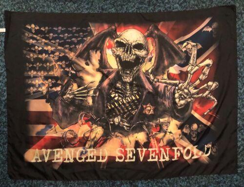 "Avenged Sevenfold Banner Italian Cloth Fabric Sheriff Flag 30"" x 42"""