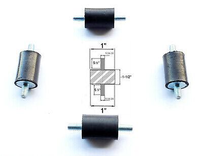 4 Rubber Vibration Isolator Mounts 1 Dia X 1-12 Thk 516-18 X 58 Studs