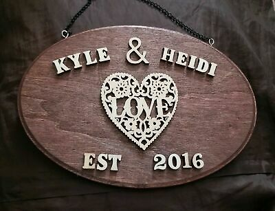2019 Best Gift Personalized wall Plaque for husband wife Parents 8.5