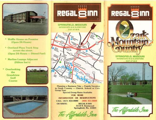 The Affordable Inn Springfield MO Vtge Travel Brochure Photos Map Regal 8 Inn