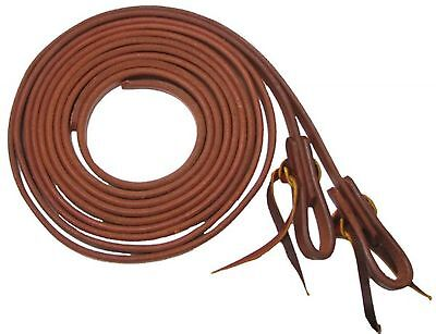 "Showman USA MADE 5/8"" X 8' Oiled Harness Leather Split Reins! NEW HORSE TACK!"