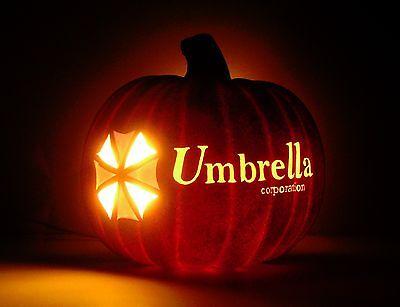Umbrella Corporation - RESIDENT EVIL (Hand-Carved Foam Halloween Pumpkin 8