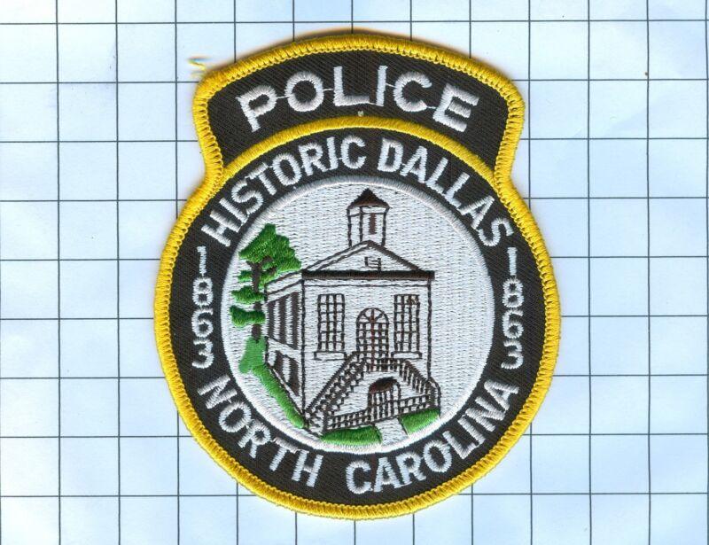 Police Patch  - North Carolina - Historic Dallas 1863