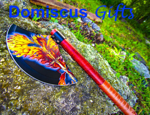 """18"""" NEW! DRAGON Fantasy MEDIEVAL AXE Collectible Leather GOTHIC Knight HATCHET"""