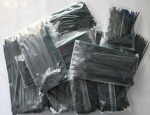 1000 Stück Kabelbinder Schwarz Kabelband Set 100  150 200 250  x 2,5 3,5 3,6 4,8