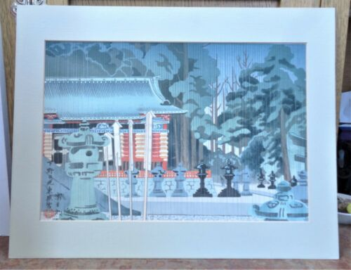 TOMIKICHIRO TOKURIKI Woodblock Print NIKKO TOSHOGU Shrine POST WWII 1950s