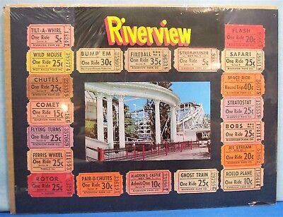 Amusement Park   Chicago 1950 S Riverview Memorabilia   Fireball  Roller Coaster