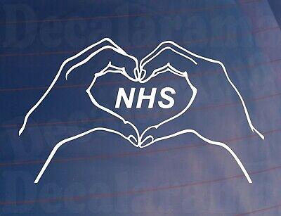 Car Sticker HANDS HEART NHS Van Truck Window Bumper Boot Door House Home Decal