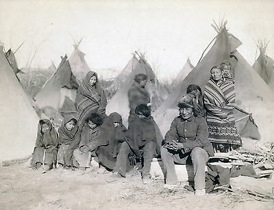 (1891 photo, Western, Native American home, Indian, Big Foot, teepee, 14