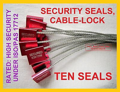 Cable-lock Security Seals Cargotanker Ten Bright-red High-security 3.5mm