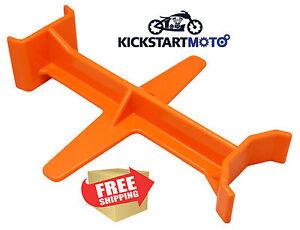 Orange Tie Down Brace Block Fork Saver Seal Savers Motocross Dirtbike Motorcycle