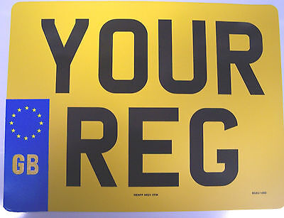 MOTOR CYCLE REAR GB BADGE NUMBER PLATE 9 x 7 (229mm x 178mm) 100% MOT LEGAL