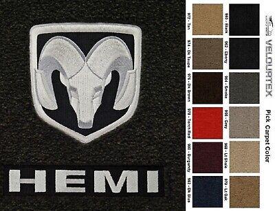 Lloyd Mats Dodge Ram Velourtex Ram & HEMI Logo Front Floor Mats (1994-2010)