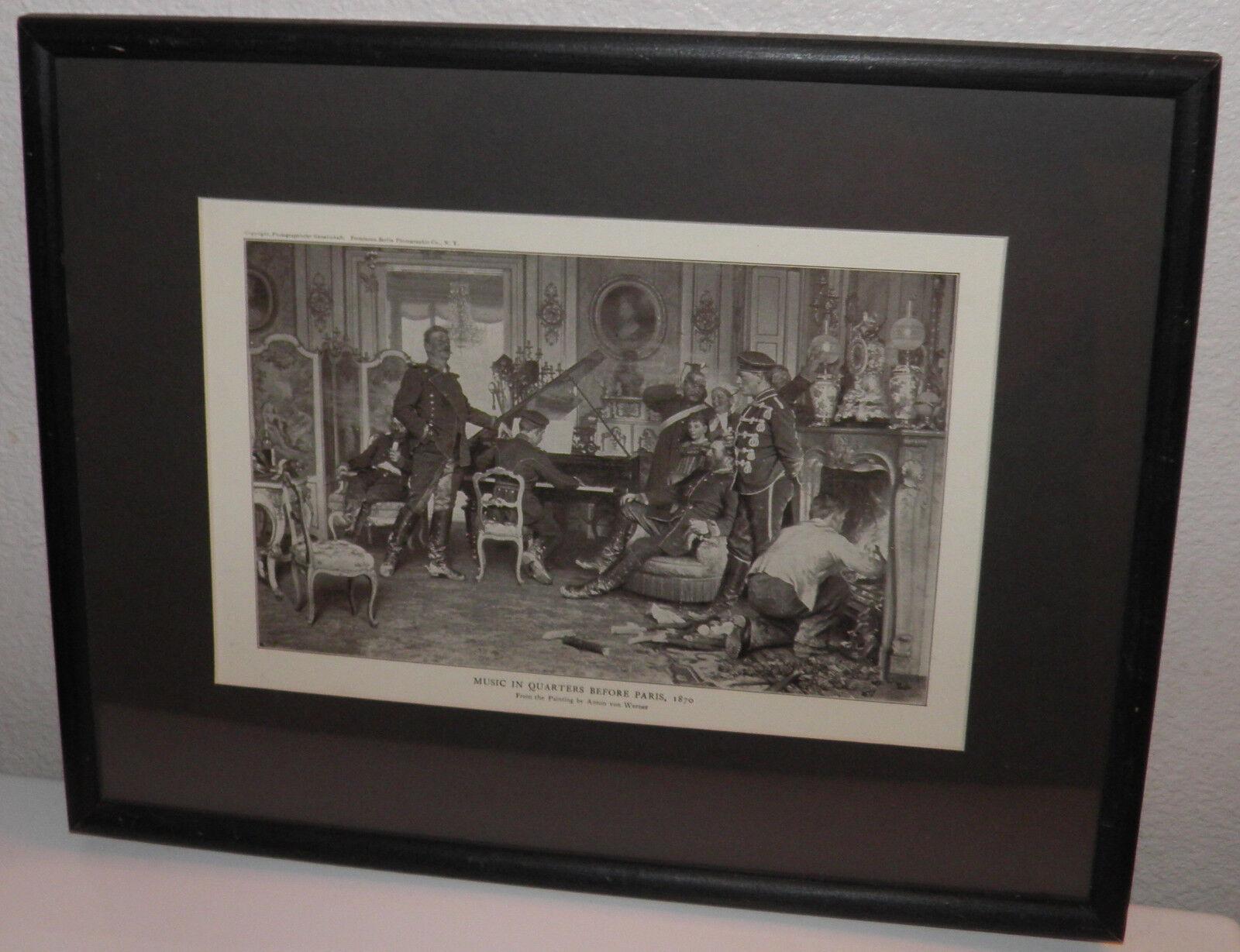 1912 Print Anton Von Werner Art Pianist Franco-Prussian War Musical 20 OFF BIN - $48.84