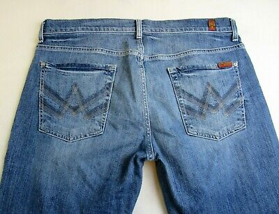 Men's 7 for All Mankind Jeans 'A' Pocket Bootcut Stretch Size 36 Actual 38x34.5