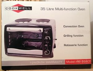 Multifunction benchtop oven with hotplates