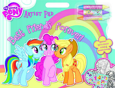 My Little Pony Artist Pad Stickers Crayons Back to School  Gift party Bag Filler (Little Artist Party)
