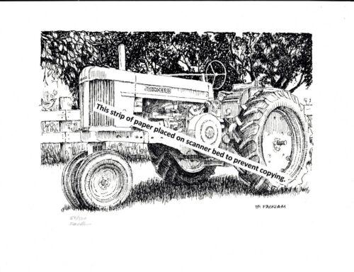 John Deere Model 70 Farm Tractor ~ Pen & Ink Print