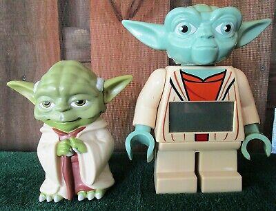 STAR WARS YODA FLASHLIGHT & LEGO FIGURE ALARM CLOCK