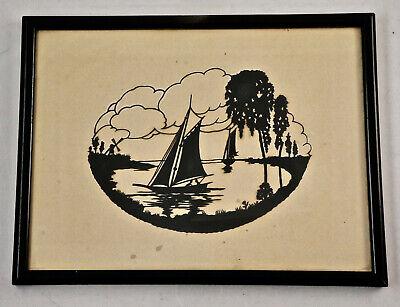 Adorable Original Paper Cutting, Framed Behind Glas, 25x19, 5 Cm. (ST19)