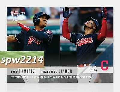 2018 Topps Now Francisco Lindor   Jose Ramirez  448