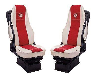 Sitzauflage LKW-Sitz Sitzbezug Sitzkissen rot Volvo FH 13,FH460,FL240,FL12