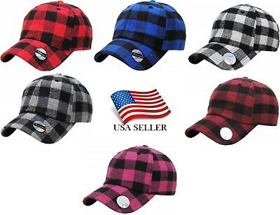 KB Ethos Plaid Flannel Baseball Cap Hat Caps Hats Hunting Vintage Adjustable - Flannel Cap