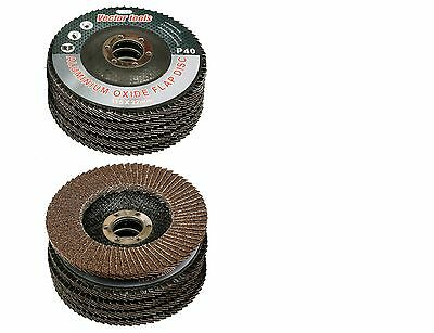 Lot Of 10 4 12 X 78 Flap 40 Grit Wheel Sanding Disc Aluminum Oxide