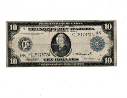 1914 Federal Reserve Note Blue Seal Dallas FR 947 PB2