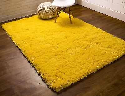 Light Yellow Area Rug (Super Area Rugs Contemporary Modern Soft Shag Solid Area Rug in Light Yellow )