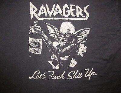 RAVAGERS Let's F*@k Sh!t up. Men's XL black T shirt 23.5 x 27.5