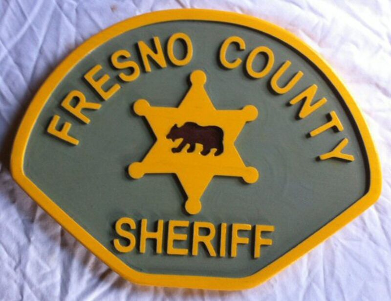 Fresno County Sheriff Police 3D routed wood patch plaque sign Custom
