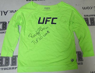 Rowdy Bec Rawlings Signed Personally Worn Used In Tuf 20 Ufc Fight Shirt Bas Coa